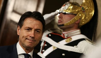 Italy's Prime Minister-designate Giuseppe Conte leaves after a meeting with the Italian President Sergio Mattarella at the Quirinal Palace in Rome, Italy, May 27, 2018.
