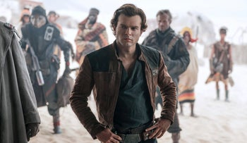 "Alden Ehrenreich in a scene from ""Solo: A Star Wars Story."""