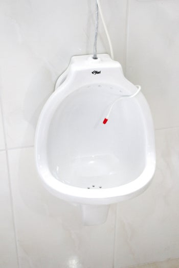 Piipee created a dispenser so that the solution would be activated every time someone went to the bathroom.