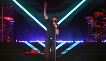 Enrique Iglesias performing in Yarkon Park, Tel Aviv, May 27, 2018.