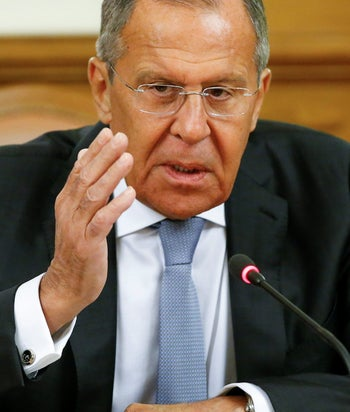 Russian Foreign Minister Sergei Lavrov in Moscow, Russia May 28, 2018.