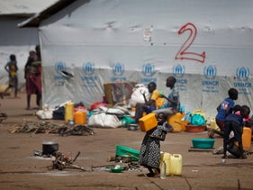 South Sudanese refugees in Uganda, which is stressing medical availability even more.
