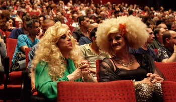 Guests at the opening ceremony of the 2015 edition of the Tel Aviv International LGBT Film Festival