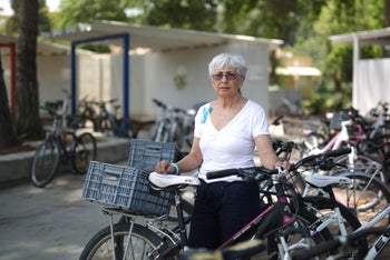 Vivian Silver, a resident of Kibbutz Be'eri and member of an organization of volunteers who help transport patients from Gaza to hospitals in Israel.