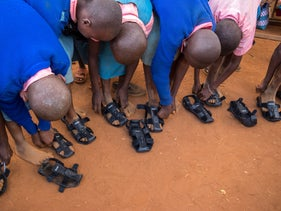 The Shoe That Grows can be adjusted and expanded by five sizes.