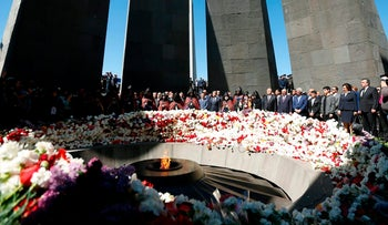 The state memorial to victims of the Armenian genocide in Yerevan, Armenia