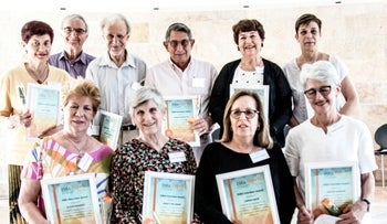 Some of the honorees at ESRA's Volunteer Award event in Ra'anana, May 27, 2018.