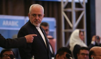 Iran's Foreign Minister Mohammad Javad Zarif attends a meeting of the Organisation of Islamic Cooperation (OIC) Foreign Ministers Council in Istanbul, May 18, 2018.