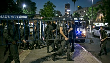 Police manning south Tel Aviv following violent clashes between groups of Eritrean asylum seekers.