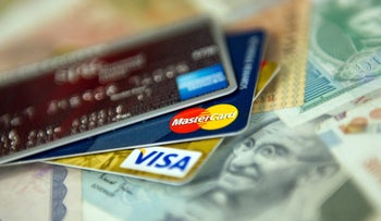 File photo: Credit cards.