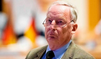 """Federal spokesman of the far-right party Alternative for Germany (AfD) Alexander Gauland attends the party congress of the party's youth party """"Junge Alternative"""" in Seebach, eastern Germany, on June 2, 2018"""