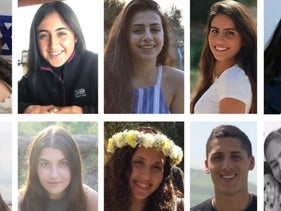 The 10 Bnei Zion pre-army academy students who died in a flood in southern Israel.