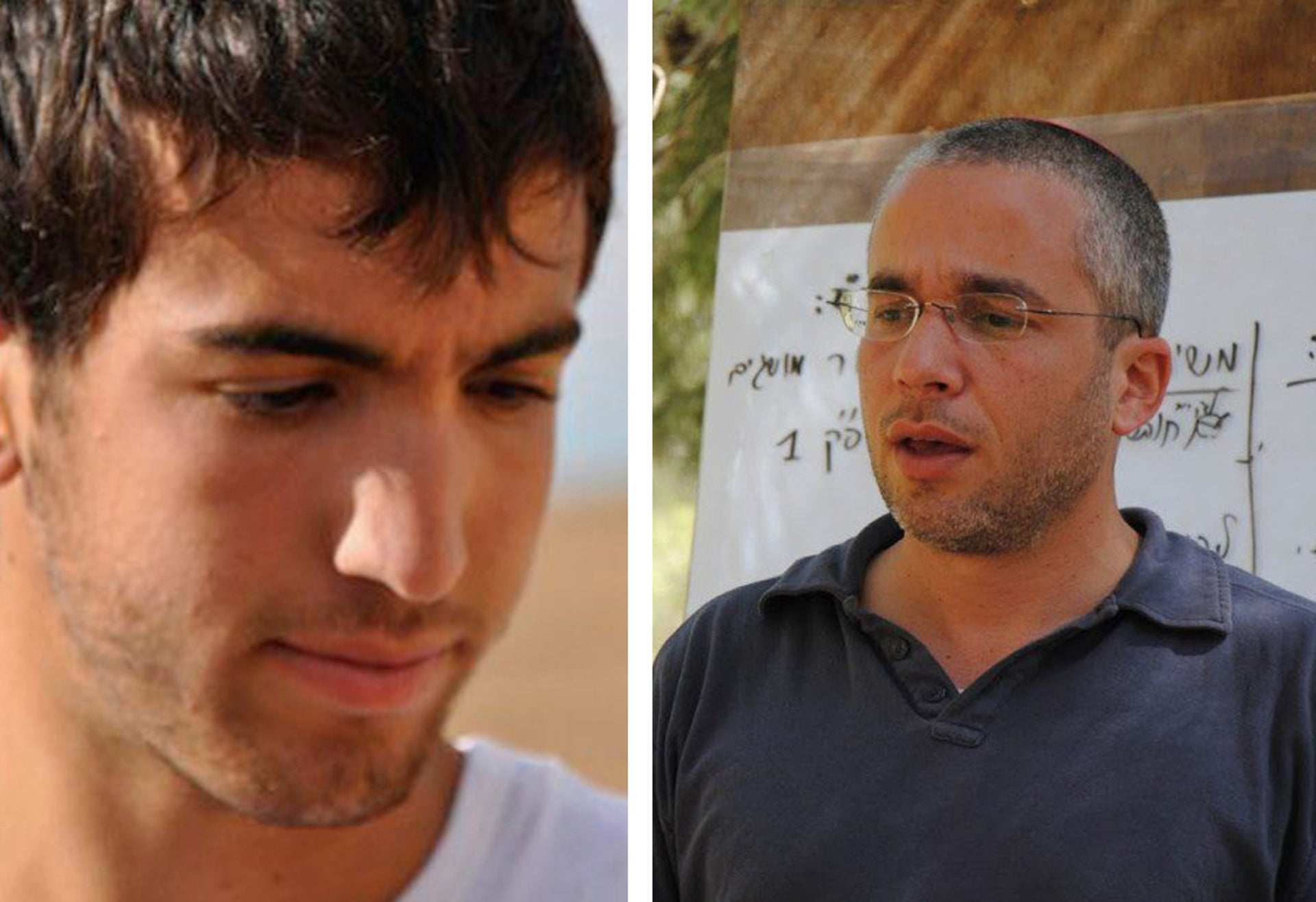 Yuval Kahan (right), the former head of the Bnei Zion academy, and Aviv Bardichev, who guided the deadly hike.