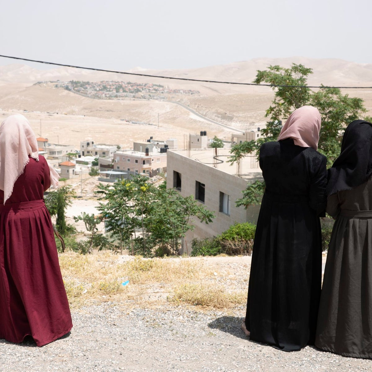 Women from the Jalahin Bedouin tribe in the West Bank, May 27, 2018.