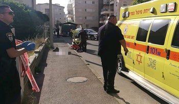 The site of the murder in Haifa, June 10, 2018.