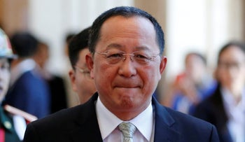 North Korea's Foreign Minister Ri Yong-ho, 2016.