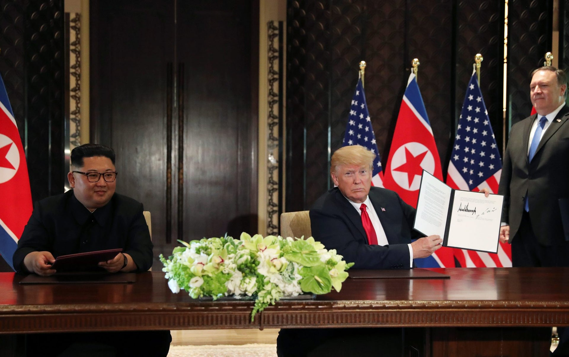 The Art of the Deal: Trump and Kim signed a document pledging to establish relations between the two countries