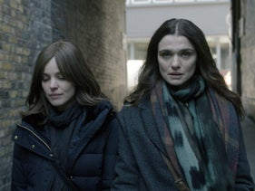 "Rachel McAdams and Rachel Weisz in ""Disobedience."""