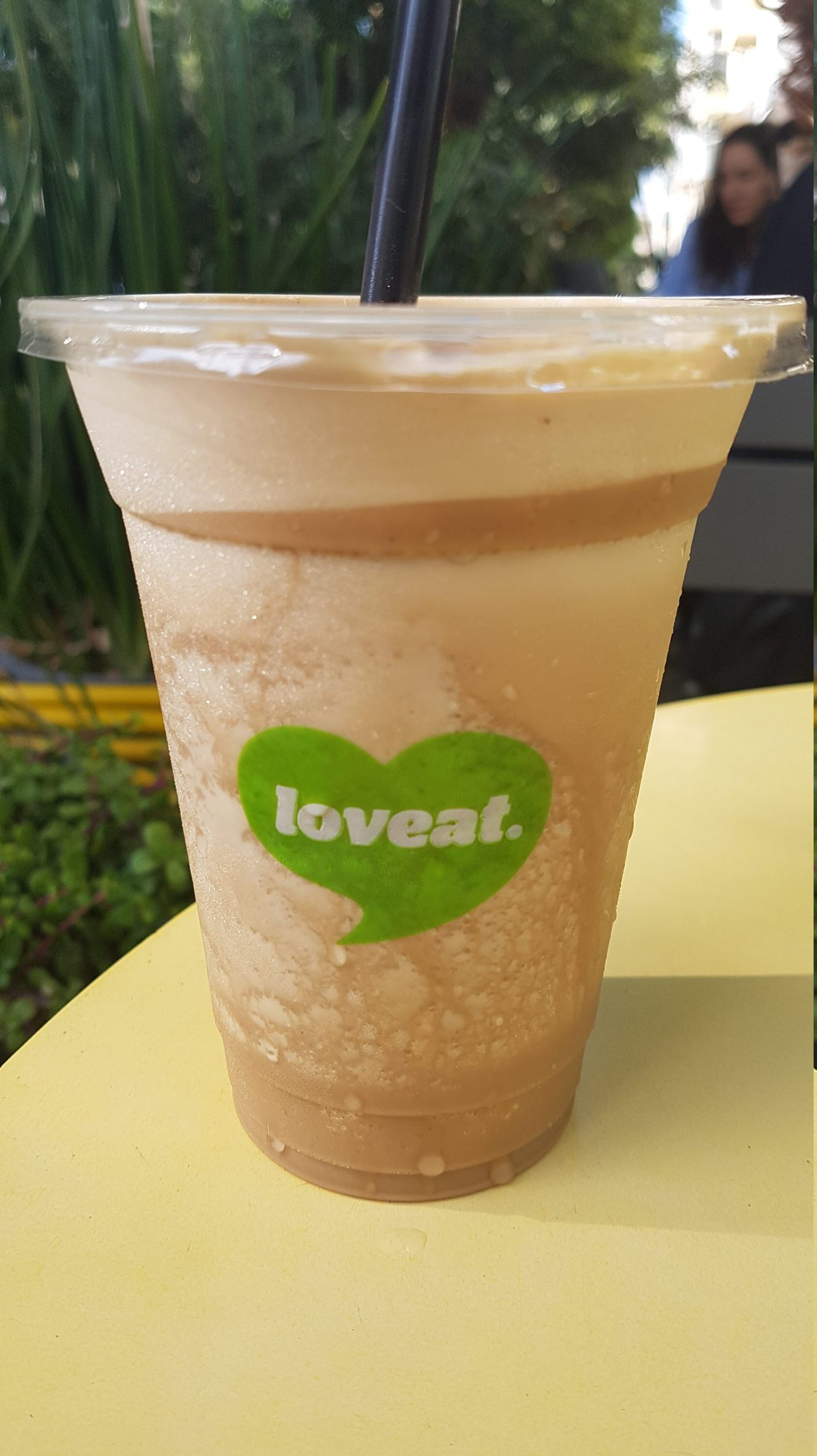 Loveat's frozen coffee. Sweet but strong.