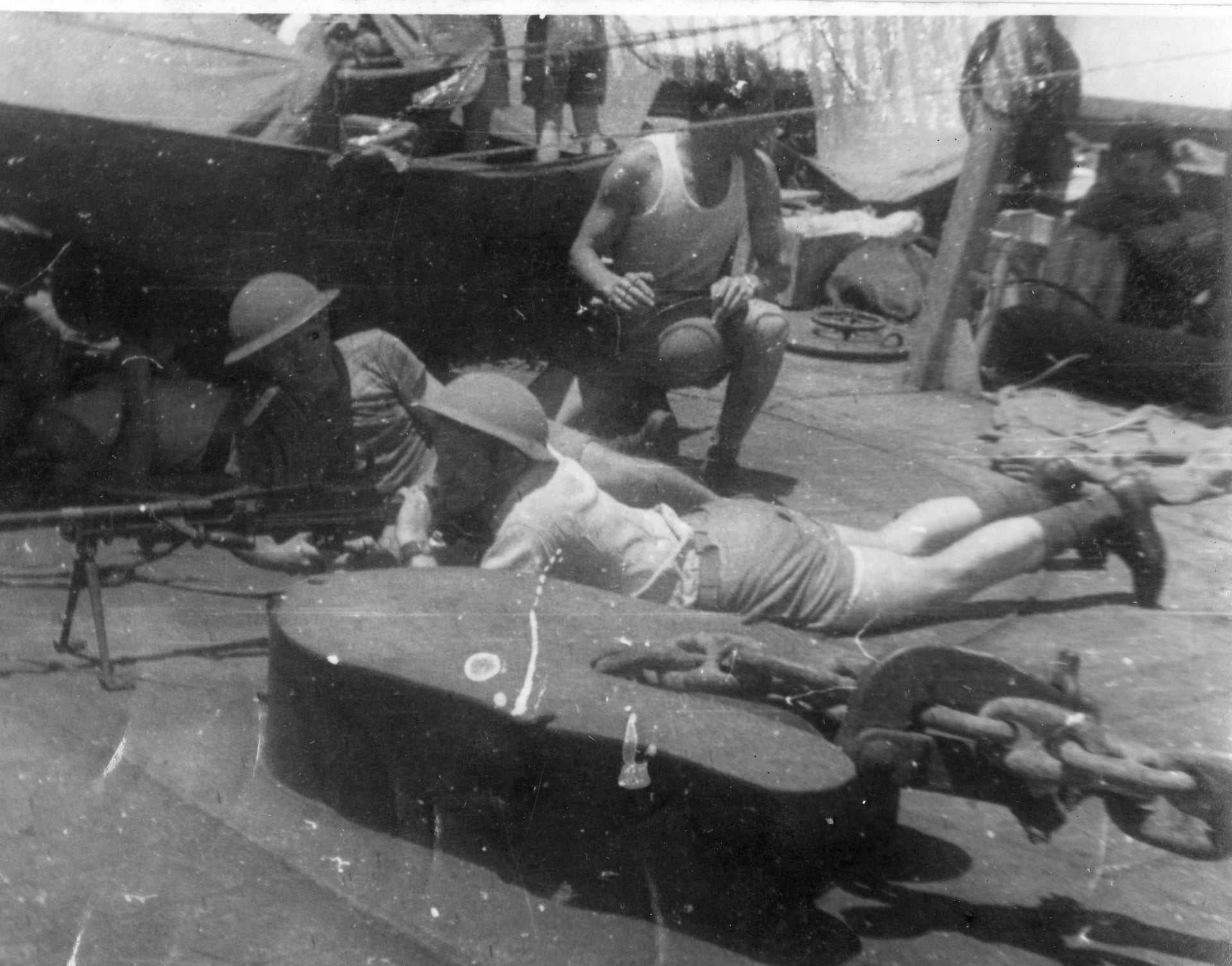 On the deck of the Altalena. According to Feldman, the ship had enough guns and ammunition for 5,000 more people.
