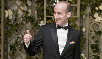 Stephen Miller, White House senior advisor for policy, arrives for a state dinner in honor of French President Emanuel Macron at the White House in Washington, D.C., U.S., on Tuesday, April 24, 2018
