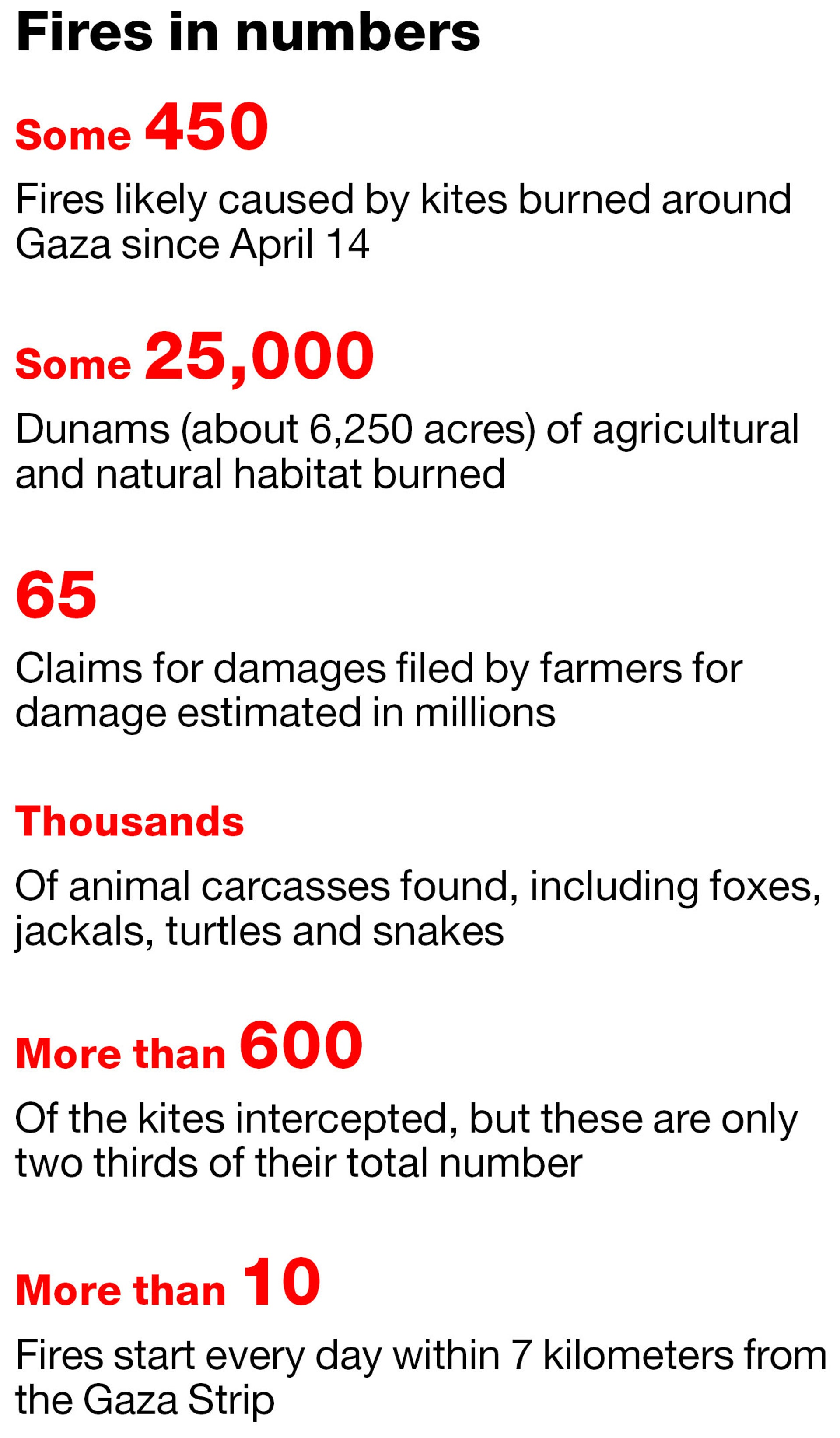 Fires in numbers