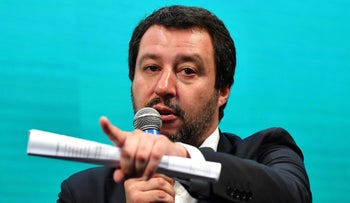 Italy's Interior Minister and deputy PM Matteo Salvini, who has announced plans for a census of the Roma community and to deport those without legal status, despite outrage at home and abroad.
