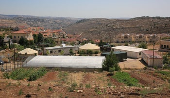 A view of the Israeli settlement of Efrat, June 2018