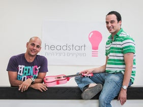 Headstart CEO Yossi Meiri and Maayan Meltzer