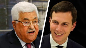 Palestinian President Mahmoud Abbas and Senior White House Advisor Jared Kushner.