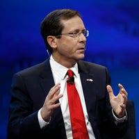In this March 27, 2017 file photo, Israeli Opposition Leader and Zionist Union Chairman Isaac Herzog speaks at the AIPAC Policy Conference 2017 in Washington.