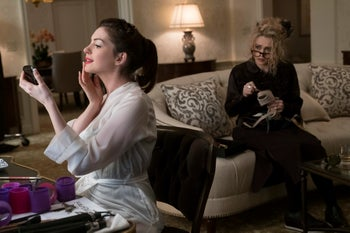 """Anne Hathaway, left, and Helena Bonham Carter in a scene from """"Ocean's 8."""""""