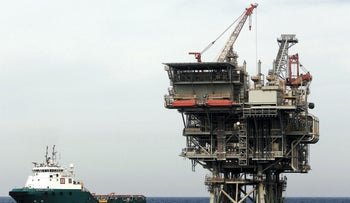 Leviathan rig in the Mediterranean, run by Noble Energy and Delek