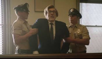 Screenshot from 'The Hunt For Adolf Eichmann' with Rachel Bloom - 'Drunk History'