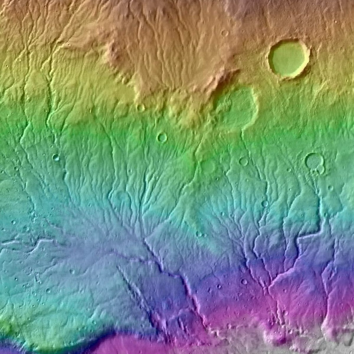 What carved these gulleys on Mars' surface? Rain, says new paper