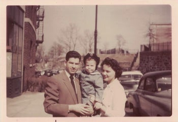 Daniel M. Jaffe at age 2, with his parents Jonah and Sandra in the 1950s.
