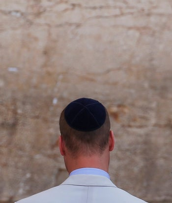 Prince William at the Western Wall, June 28, 2018