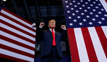 President Donald Trump speaks during a campaign rally, Wednesday, June 27, 2018, in Fargo, N.D.