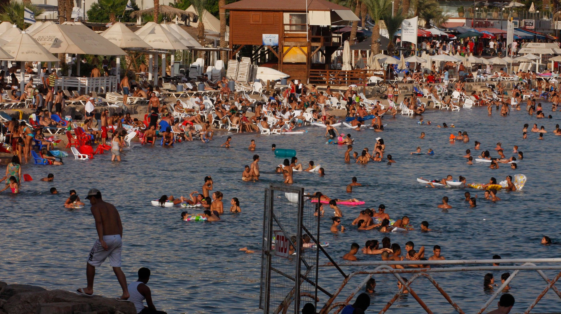 Eilat in peak tourist season - the summer.