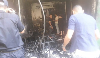 The scene of the explosion in the Gaza Strip, June 30, 2018.