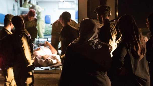 One of the Syrians wounded in Israel was treated on Friday.