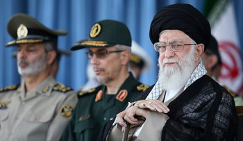 Iranian supreme leader, Supreme Leader Ayatollah Ali Khamenei attends a ceremony in a military academy, in Tehran, Iran, Saturday, June 30, 2018. Iran's Supreme Leader has accused the United States and allies of fomenting unrest in Iran.