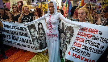 Turkish LGBT protester in Istanbul, 2016