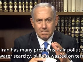 Israeli Prime Minister Benjamin Netanyahu addresses the Iranian people using his official Facebook page, June 27, 2018.