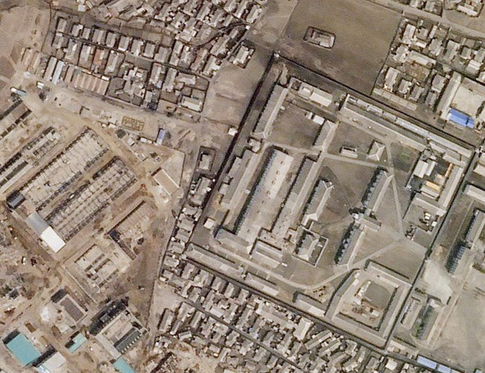 A North Korean missile production facility in the city of Hamhung is seen from a satellite image taken on April 1, 2018.