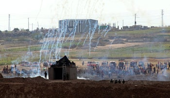 Protests on the Gaza border, last week.