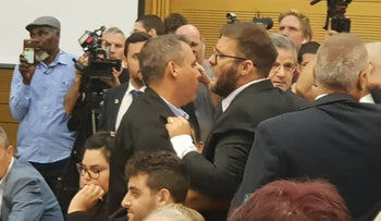 Likud lawmaker Oren Hazan gets tossed out of stormy meeting with left-wing activists and lawmakers about Gaza.