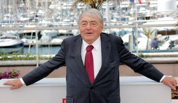 French film director Claude Lanzmann in Cannes, southern France, May 2013