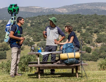 Google Street view, off the beaten path in Israel
