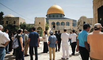Jews on the Temple Mount, 2016